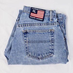 VTG Ralph Lauren patch high rise mom jeans 8-10